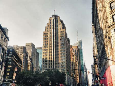 Beautiful view of Manhattans skyscraper.