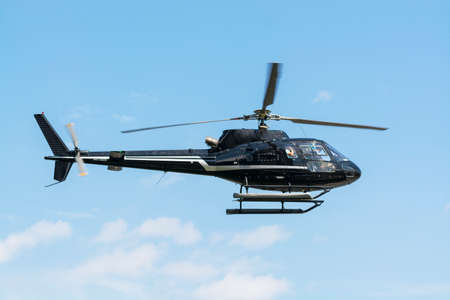 sightsee: Helicopter for sightseeing. Stock Photo