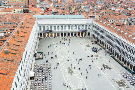 aereal: Aereal view of San Marco square in Venice.
