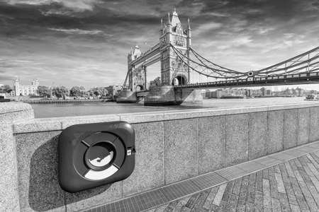 particolare: Particolare vista del London Bridge. Archivio Fotografico