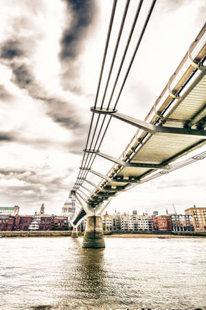 The Millenium bridge seen from below. photo