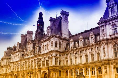 rivoli: Hotel de Ville in Paris. Editorial