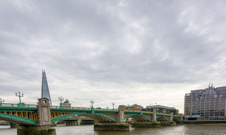 southwark: Panorama of Southwark Bridge. Stock Photo