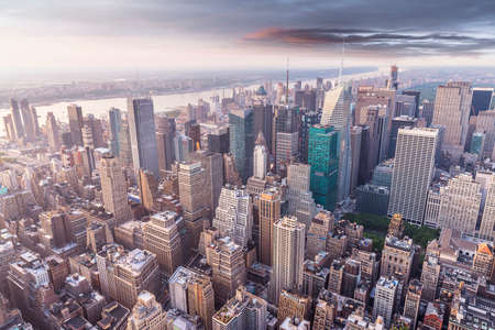aereal: Aereal view of Manhattan.
