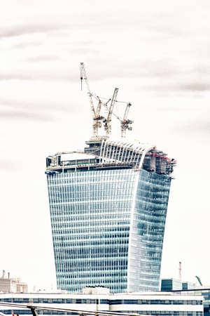 costruction: New skyscraper under costruction, London. Editorial
