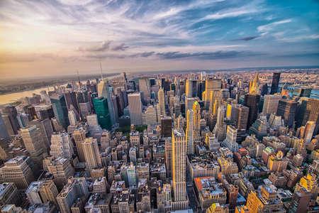 맨해튼의 스카이 라인. 스톡 콘텐츠