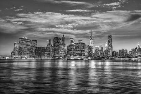 Panorama of Manhattan at the sunset.
