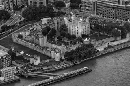 medioeval: Aerial view of Tower Hill, London. Stock Photo