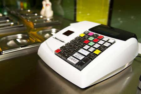 The cash register. photo