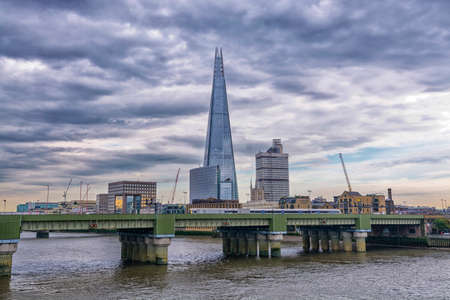 southwark: Southwark bridge and London skyline.