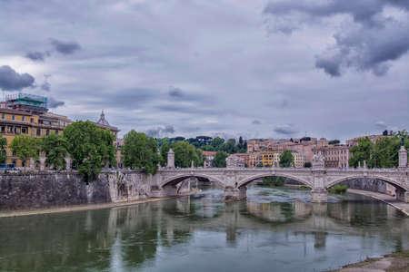 tevere: The bridge, Rome.