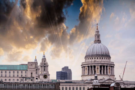 st pauls: The dome of St Pauls Cathedral. Stock Photo