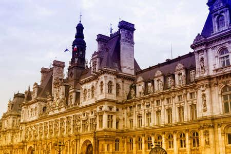 ville: Hotel de Ville in Paris. Editorial