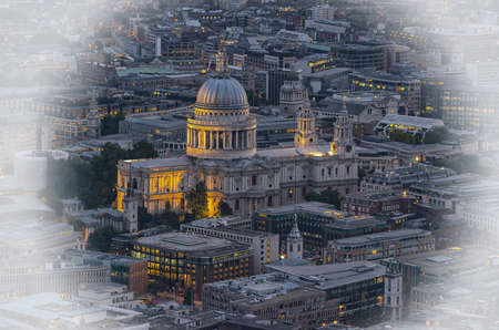 paul: St. Paul Cathedral from above. Stock Photo