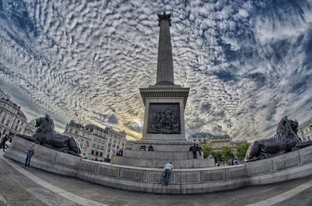 trafalgar: Trafalgar Square, London. Stock Photo