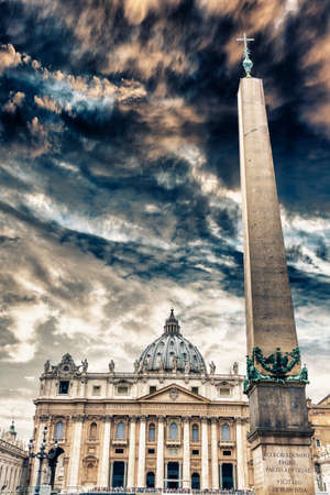 Spectacular view of st. Peter in Vatrican, Rome. photo
