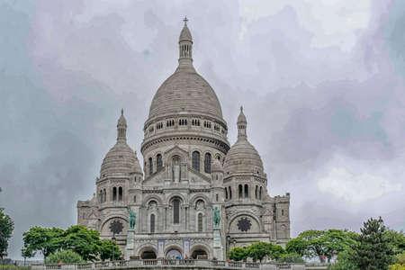 coeur: The Sacre Coeur in Paris.