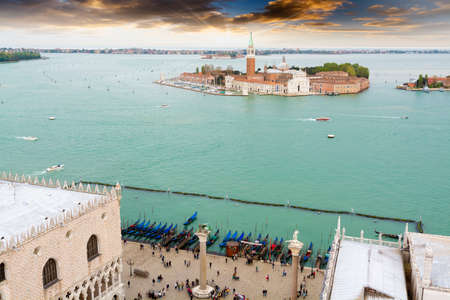 aereal: Aereal view of Venice.