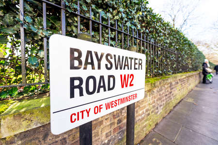 road sign: Bayswater Road sign.