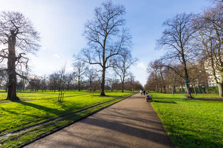 hyde: Hyde Park in winter. Stock Photo