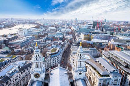 saint paul: London viewed from Saint Paul Cathedral.