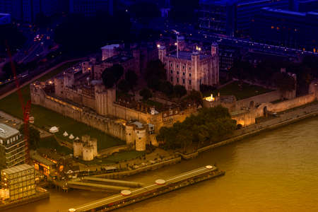 dungeons: Aerial view of Tower Hill, London. Editorial