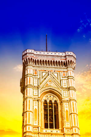 the campanile: Beautiful view of the campanile in Florence.