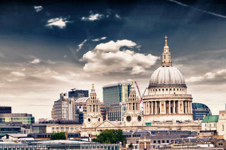 St. Paul Cathedral with beautiful sky. photo