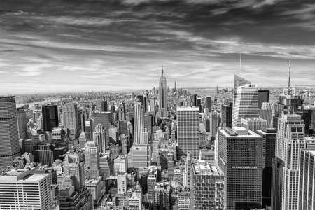 aerial city: Beautiful view of  New York City skyline.