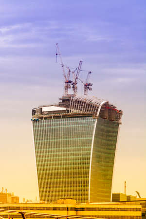 costruction: New skyscraper under costruction, London. Stock Photo