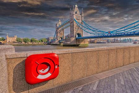 particolare: Particolare vista di London Bridge.