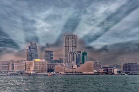honk: Honk Kong view from the sea. Stock Photo