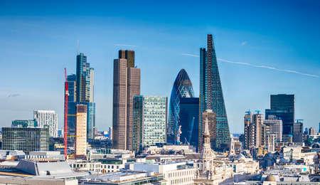 Mooie skyline van Londen. Stockfoto