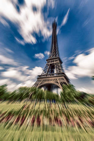 zoomed: Zoomed view of Tower Eiffel.