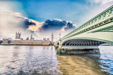 westminster: Beautiful view of Westminster, London. Stock Photo
