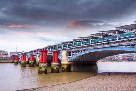 southwark: Southwark Bridge in London.