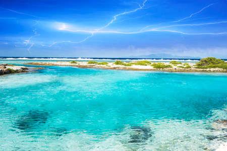 Polynesian sea.