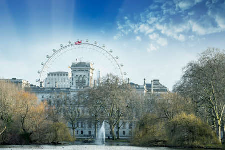 london skyline: Very beautiful view of London skyline. Editorial