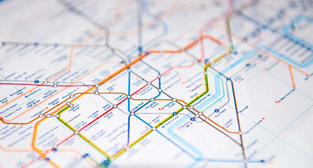 england map: LONDON, UK - MARCH 8, 2015: Tube map of the London Underground subway lines.
