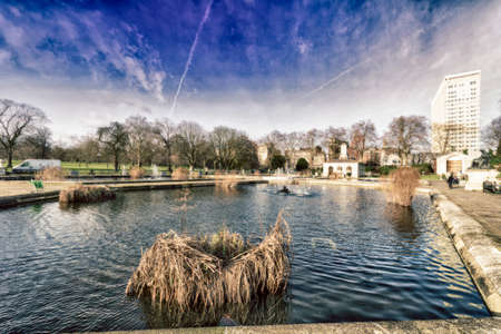 hyde: Little lake in hyde park. Stock Photo