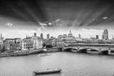 London skyline with background St. Paul Cathedral.