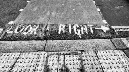 look right: Look right.