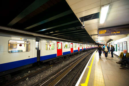 billion: LONDON - JEN 16: London Underground train station on Jennuary 16, 2015 in London. London Underground is the 11th busiest metro system worldwide with 1.1 billion annual rides.
