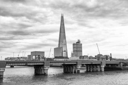 southwark: Southwark bridge and London skyline.
