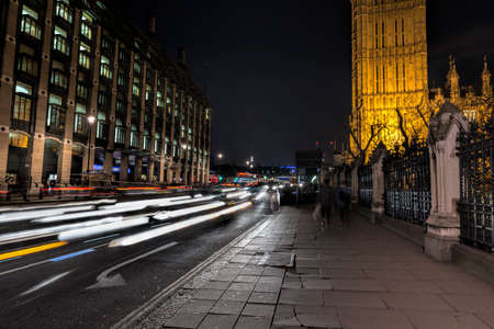 westminster: Westminster by night. Stock Photo