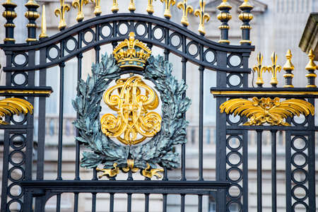 Particular of Buckingham palace gate.