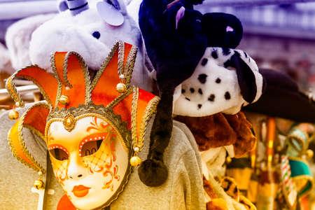 venecian: Tipical Venecian mask. Stock Photo