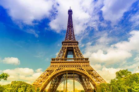 eiffel tower architecture: Tower Eiffel. Stock Photo