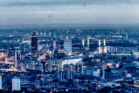 south london: Night view of south London.
