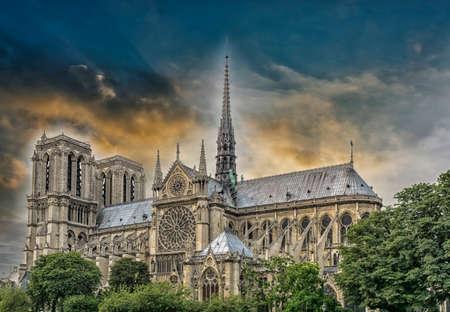 dame: Notre Dame Cathedral, Paris.